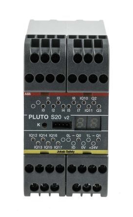 Pluto 2TLA Series Safety Controller, 16 Safety Inputs, 4 Safety Outputs, 24 V dc