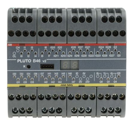 Pluto 2TLA Series Safety Controller, 24 Safety Inputs, 6 Safety Outputs, 24 V dc