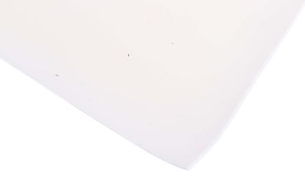 White Silicone Sponge Rubber Sheet, 1m x 600mm x 1.5mm