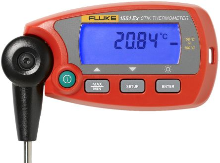 Fluke 1551 Digital Thermometer, 1 Input Handheld, RTD Type Input, Intrinsically Safe