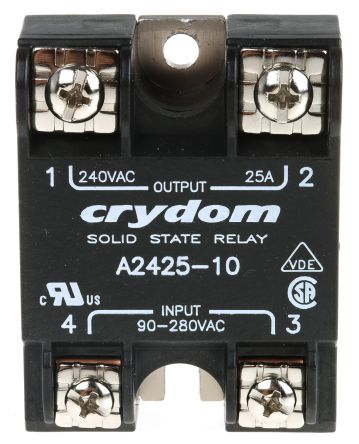 Sensata / Crydom 25 A SPST Solid State Relay, Instantaneous, Panel on