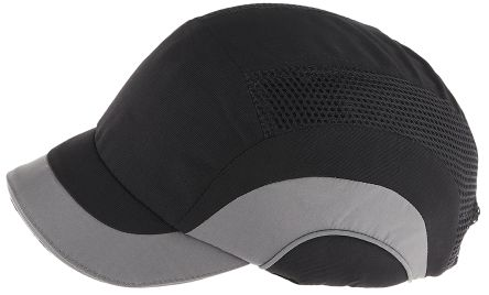 Canvas HDPE Black/Grey Short Peaked Safety Cap product photo