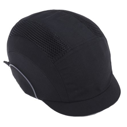 JSP Black Short Peaked Safety Cap, HDPE Protective Material