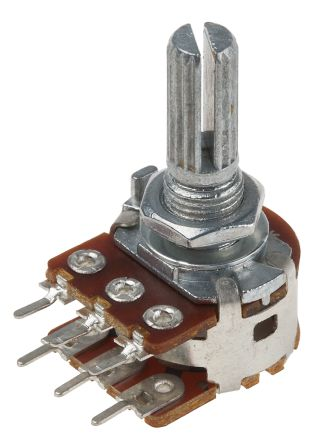 Bourns PDB182-K220K-104B 2 Gang Rotary Carbon Potentiometer with a 6 mm Dia