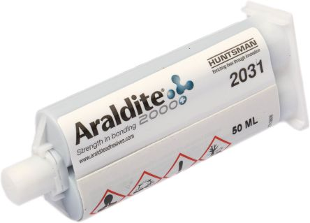 Araldite 2031, 50 ml Black Cartridge Epoxy Adhesive for Metal, Plastic