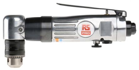 RS PRO 10mm Angled Air Drill, 1/4in Air Inlet (BSP) , 1700rpm