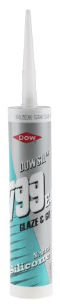 4068751 799 Transparent Silicone Sealant Paste 310 ml Cartridge product photo