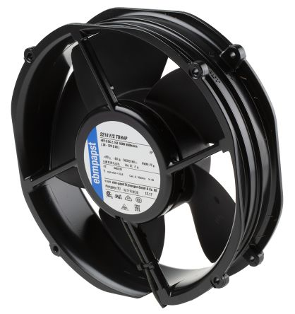 ebm-papst S-Force Series Axial Fan, 200 x 50.8mm, 1220m³/h, 103W, 48 V dc