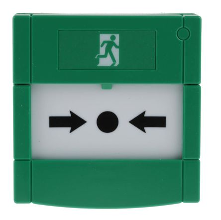 Green Fire Alarm Call Point, 85 x 85 x 51mm