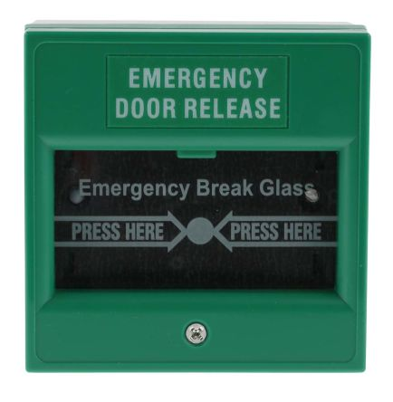 Green Break Glass Call Point, 85 x 85 x 51mm