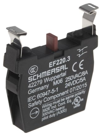 Schmersal EF220 3 Contact Block, For Use With NDR E-Stop