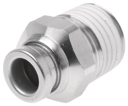 SMC Connector, R 1/4 Male, Push In 6 mm