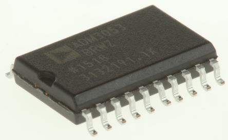 Analog Devices ADM3053BRWZ, CAN Transceiver 1MBps 1-channel ISO 11898, 20-Pin SOIC