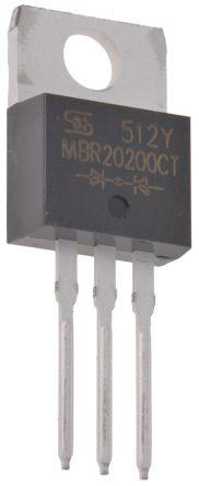 MBR20200CT DUAL SKOTTKY 10A 200V COMON K TO220