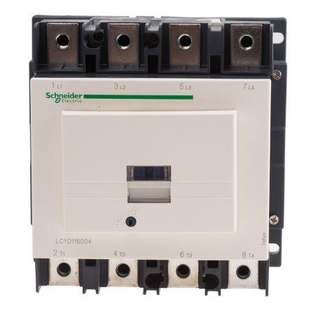2028f96586dd LC1D1150046BD   Schneider Electric 4 Pole Contactor, 115 A, 24 V dc ...