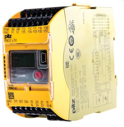 Configurable Safety Relay, Single Channel, 24 → 240 V ac/dc, 2 Safety, 2 Auxiliary