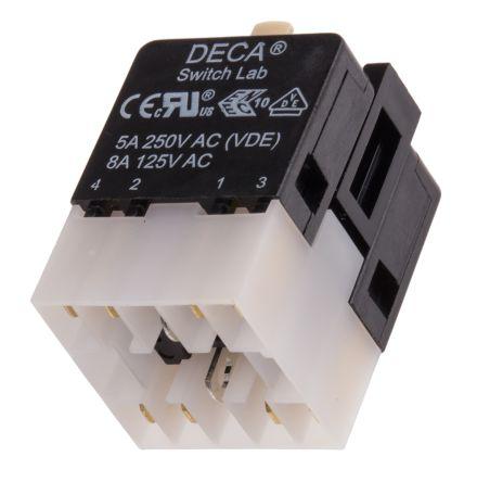 Contact & lamp block,2x1NO/1NC for ADA16