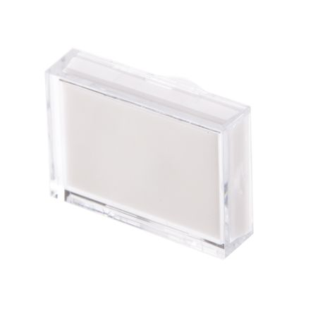 White Rectangular Push Button Lens for use with ADA16 Series