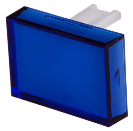 Blue Rectangular Push Button Lens for use with SD16 Series