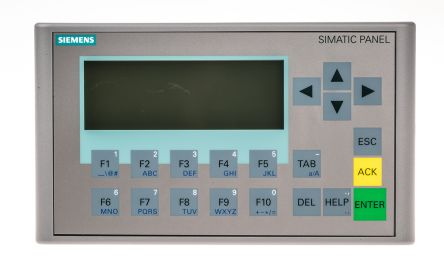 Siemens Backlit FSTN HMI Panel, 31 x 87 mm Display, 24 V dc Supply