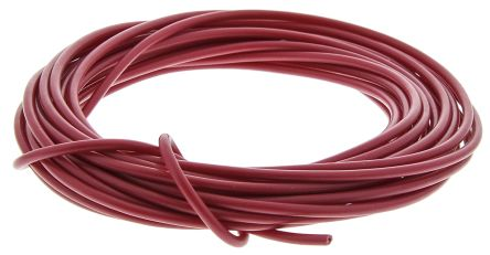 RS PRO Unshielded Test Lead Wire 0.5 mm² CSA 500 V Red PVC, 100 Strands 5m