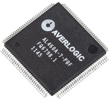 AverLogic AL460A-7-PBF, FIFO Memory, Single 128Mbit, 8M x 16, Uni-Directional 150MHz, 2.5 → 3.3 V, 128-Pin LQFP