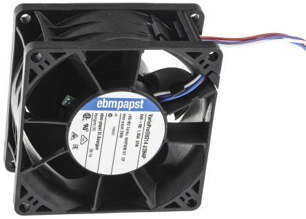 ebm-papst 8200J Series Axial Fan, 80 x 80 x 38mm, 222.7m³/h, 38W, 24 V dc