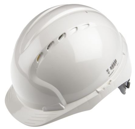 EVO2 White HDPE Standard Peak Vented Hard Hat product photo