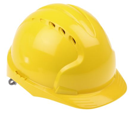 EVO2 Yellow HDPE Standard Peak Vented Hard Hat product photo