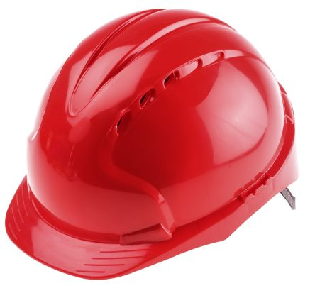 EVO2 Red HDPE Standard Peak Vented Hard Hat product photo