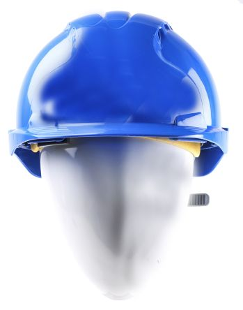 EVO2 Blue HDPE Standard Peak Vented Hard Hat product photo