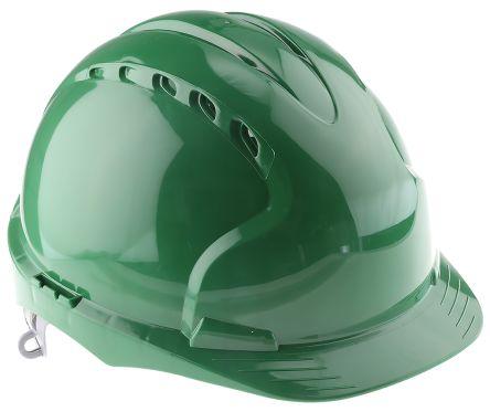 EVO2 Green HDPE Standard Peak Vented Hard Hat product photo