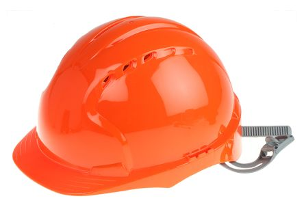 EVO2 Orange HDPE Standard Peak Vented Hard Hat product photo