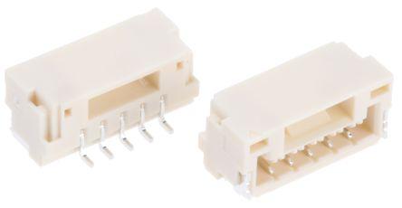 JST, GH, 5 Way, Right Angle PCB Header