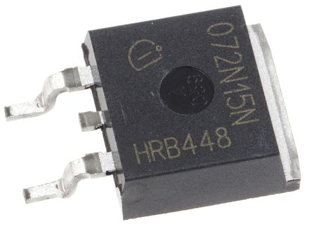 Infineon IPB072N15N3 G N-channel MOSFET, 100 A, 150 V OptiMOS 3, 3-Pin TO-263