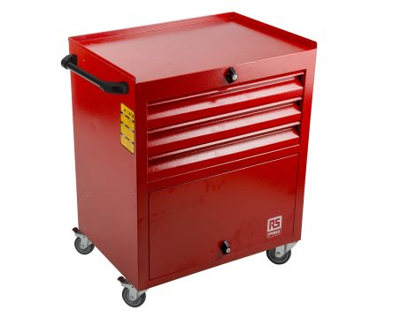 3 drawer Steel Wheeled Tool Chest, 830mm x 630mm x 450mm product photo