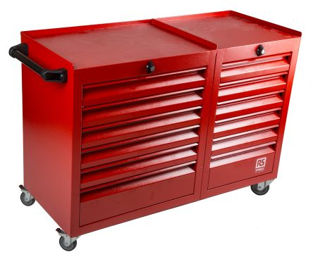 12 drawer Steel Wheeled Tool Chest, 870mm x 1085mm x 450mm product photo