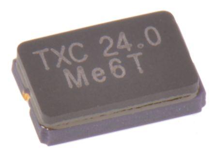 4cbbf459268 TXC 24MHz Crystal ±30ppm SMD 2-Pin 5 x 3.2 x 1.2mm