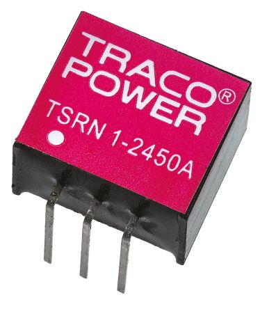 TRACOPOWER Switching Regulator, 4.6 → 31 V dc, 6.5 → 42 V dc Input, -5 V dc, 5 V dc Output, 1 A, 400 mA