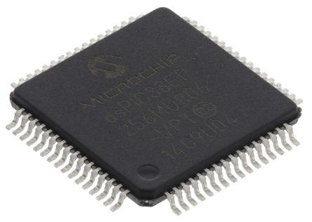 Microchip dsPIC33EP256MU806-I/PT, 16bit DSP 70MHz 280 kB Flash TQFP 64-Pin