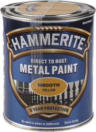 Hammerite Anti Corrosion Smooth Yellow