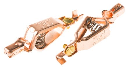 Mueller Grabber Clip, Copper Contact, 20A, Natural