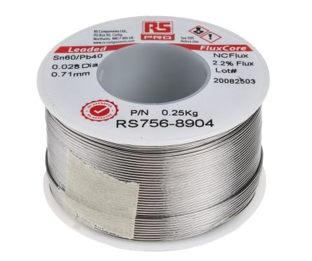 RS PRO 0 71mm Wire Lead solder, +183°C Melting Point