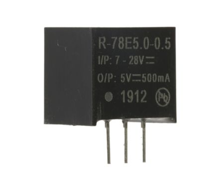 Recom Through Hole Switching Regulator, 5V dc Output Voltage, 7 → 28V dc Input Voltage, 500mA Output Current