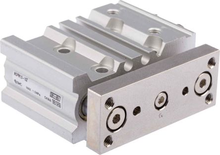 SMC Pneumatic Guided Cylinder 12mm Bore, 10mm Stroke, MGP Series, Double Acting