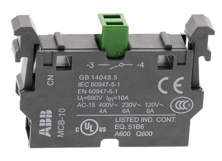Bloque de contactos ABB 1SFA611610R1001, 1 NA