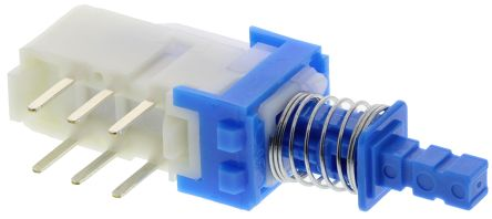 double pole double throw (dpdt) momentary push button switch, pcb