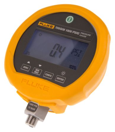 Fluke-700G08 Digital Pressure Gauge Hydraulic, Pneumatic 69bar 1/4 NPT, BSP  1/4, Interface Type RS232 700G08