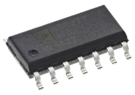 Analog Devices AD8277ARZ, Differential Amplifier 550kHz 2-channel Rail to Rail Output 14-Pin SOIC