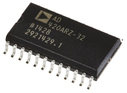AD420ARZ-32, 16 bit Serial DAC, 400sps, 24-Pin SOIC product photo